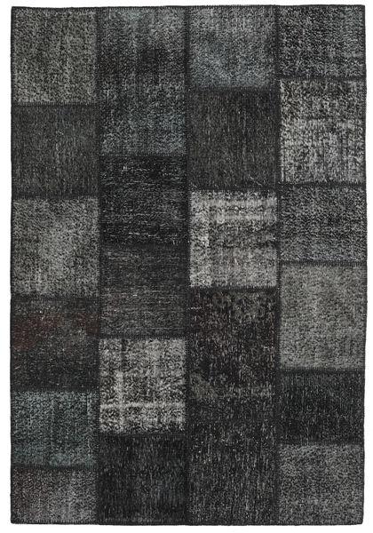 Patchwork Matto 158X234 Moderni Käsinsolmittu Tummanvihreä/Tummanharmaa (Villa, Turkki)