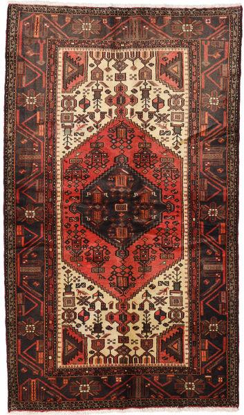 Hamadan Matto 126X218 Itämainen Käsinsolmittu Tummanruskea/Tummanpunainen (Villa, Persia/Iran)