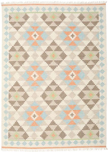 Summer Kelim Matto 240X340 Moderni Käsinkudottu Beige/Tummanbeige/Vaaleanharmaa (Villa, Intia)