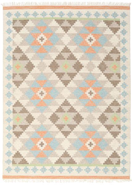 Summer Kelim Matto 210X290 Moderni Käsinkudottu Beige/Vaaleanharmaa (Villa, Intia)