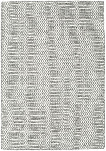 Kelim Honey Comb - Harmaa Matto 160X230 Moderni Käsinkudottu Vaaleanharmaa/Beige (Villa, Intia)