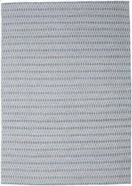 Kelim Long Stitch - Sininen Matto 240X340 Moderni Käsinkudottu Vaaleanharmaa/Vaaleansininen (Villa, Intia)