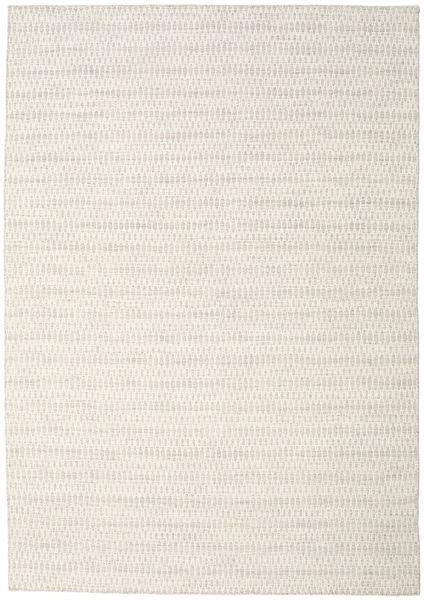 Kelim Long Stitch - Beige Matto 240X340 Moderni Käsinkudottu Vaaleanharmaa/Beige (Villa, Intia)