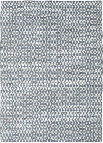 Kelim Long Stitch - Sininen Matto 210X290 Moderni Käsinkudottu Vaaleanharmaa/Vaaleansininen (Villa, Intia)