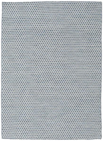 Kelim Honey Comb - Sininen Matto 140X200 Moderni Käsinkudottu Vaaleansininen/Valkoinen/Creme/Sininen (Villa, Intia)