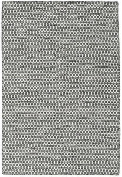 Kelim Honey Comb - Musta/Harmaa Matto 120X180 Moderni Käsinkudottu Vaaleanharmaa/Tummanharmaa (Villa, Intia)