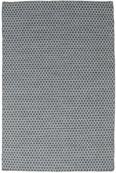 Kelim Honey Comb - Sininen Matto 120X180 Moderni Käsinkudottu Sininen/Tummanharmaa (Villa, Intia)