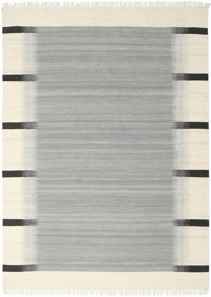 Ikat - Harmaa Matto 210X290 Moderni Käsinkudottu Siniturkoosi/Beige (Villa, Intia)