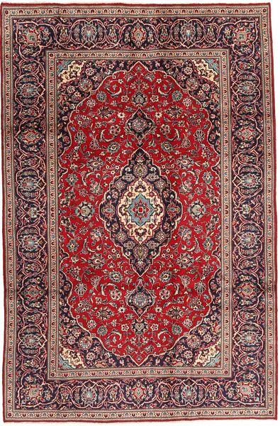Keshan Matto 196X297 Itämainen Käsinsolmittu Tummanpunainen/Tummanruskea (Villa, Persia/Iran)