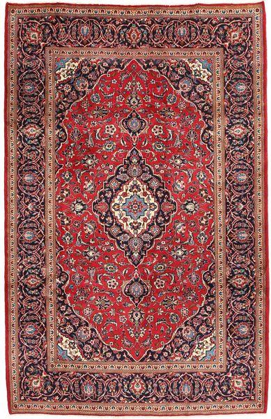 Keshan Matto 199X305 Itämainen Käsinsolmittu Tummanpunainen/Tummanruskea (Villa, Persia/Iran)