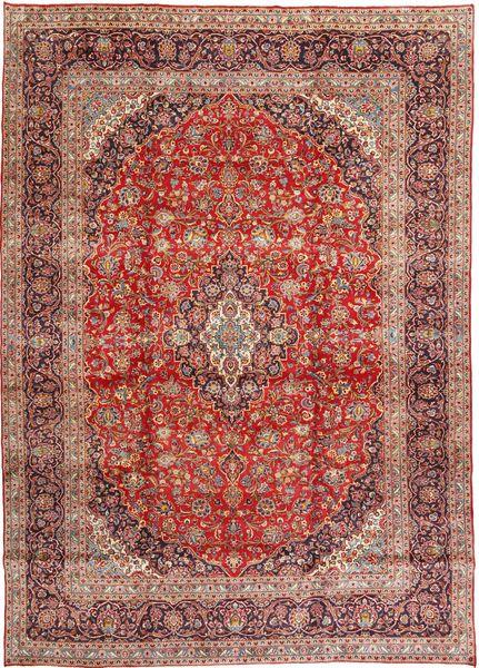 Keshan Matto 291X404 Itämainen Käsinsolmittu Tummanpunainen/Vaaleanpunainen Isot (Villa, Persia/Iran)