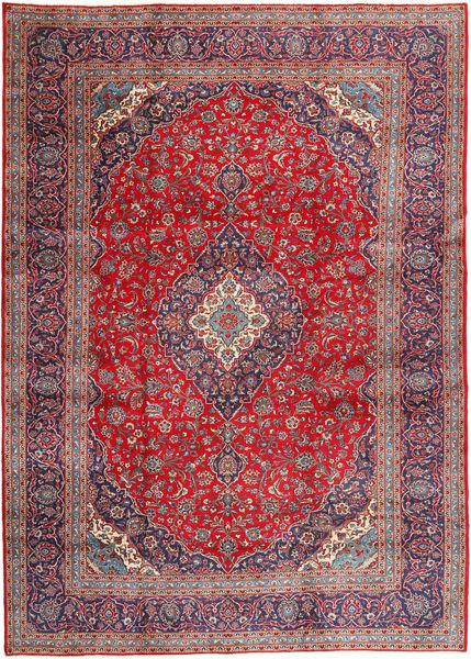 Keshan Matto 292X408 Itämainen Käsinsolmittu Tummanpunainen/Vaaleanharmaa Isot (Villa, Persia/Iran)