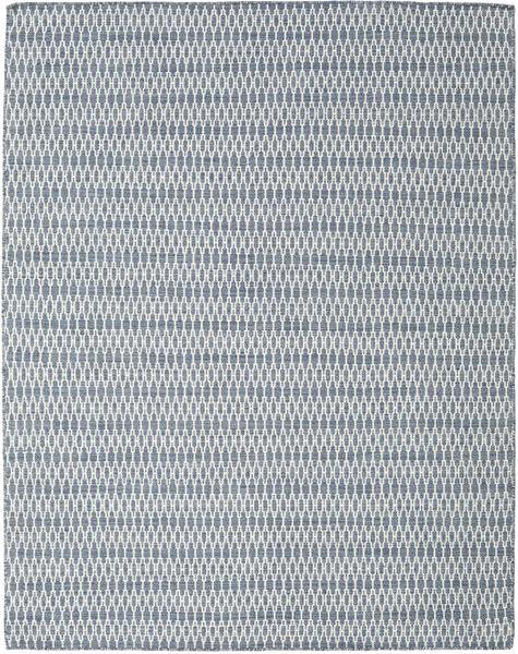 Kelim Long Stitch - Sininen Matto 190X240 Moderni Käsinkudottu Vaaleanharmaa/Vaaleansininen (Villa, Intia)