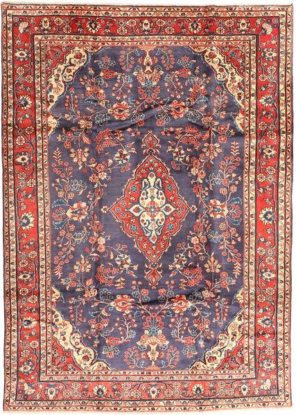 Hamadan Sharhbaf Matto 210X300 Itämainen Käsinsolmittu Tummanharmaa/Ruskea (Villa, Persia/Iran)