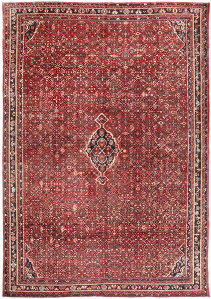 Hosseinabad Matto 310X445 Itämainen Käsinsolmittu Tummanpunainen/Tummanruskea Isot (Villa, Persia/Iran)
