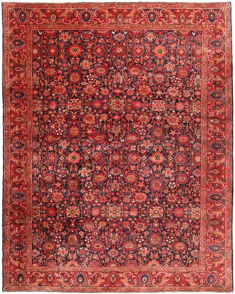 Nanadj Matto 333X418 Itämainen Käsinsolmittu Tummanpunainen/Ruoste Isot (Villa, Persia/Iran)