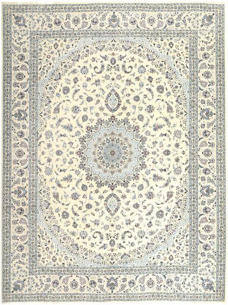 Nain 6La Matto 305X400 Itämainen Käsinsolmittu Beige/Vaaleanharmaa Isot (Villa/Silkki, Persia/Iran)