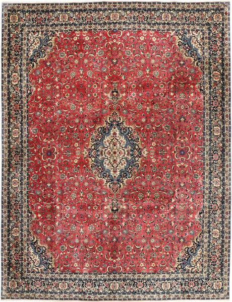 Bidjar Silkillä Matto 297X385 Itämainen Käsinsolmittu Tummanpunainen/Tummanharmaa Isot (Villa/Silkki, Persia/Iran)