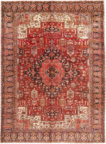 Heriz Matto 285X380 Itämainen Käsinsolmittu Tummanpunainen/Tummanruskea Isot (Villa, Persia/Iran)