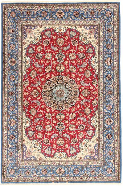 Isfahan Silkkiloimi Matto 152X227 Itämainen Käsinsolmittu Vaaleanvioletti/Ruskea (Villa/Silkki, Persia/Iran)