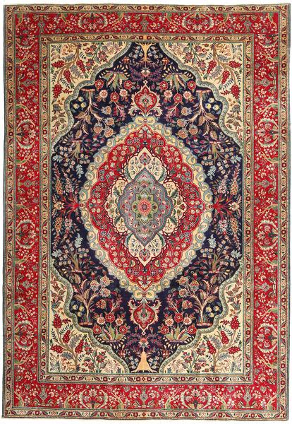 Tabriz Patina Matto 247X360 Itämainen Käsinsolmittu Tummanpunainen/Tummanharmaa (Villa, Persia/Iran)