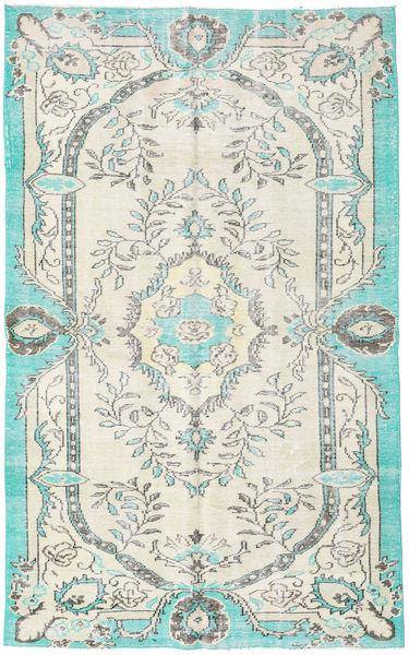 Colored Vintage Matto 170X274 Moderni Käsinsolmittu Beige/Siniturkoosi (Villa, Turkki)