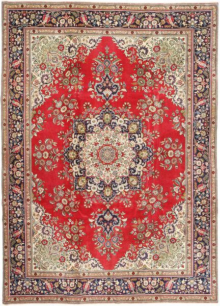 Tabriz Patina Matto 245X340 Itämainen Käsinsolmittu Vaaleanruskea/Vaaleanharmaa (Villa, Persia/Iran)