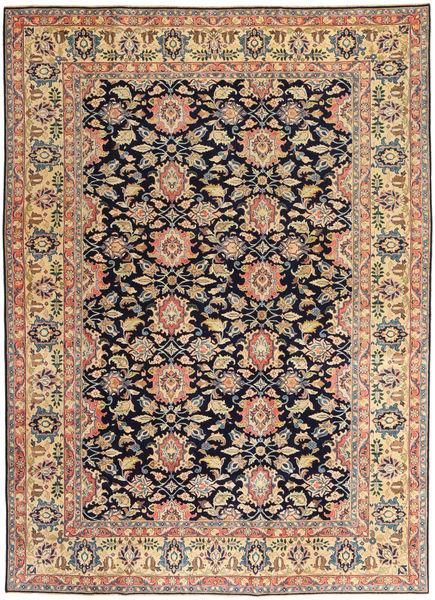 Sarough Patina Matto 195X277 Itämainen Käsinsolmittu Musta/Keltainen (Villa, Persia/Iran)