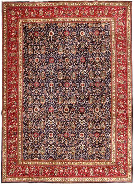 Tabriz Patina Matto 290X397 Itämainen Käsinsolmittu Tummanpunainen/Tummanvioletti Isot (Villa, Persia/Iran)
