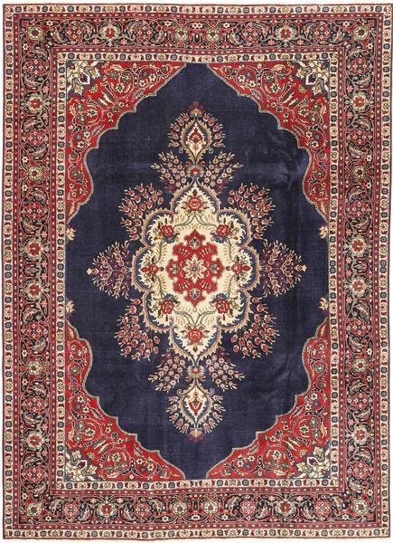 Tabriz Patina Matto 240X338 Itämainen Käsinsolmittu Tummanvioletti/Tummanpunainen (Villa, Persia/Iran)