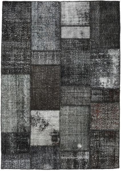 Patchwork Matto 161X230 Moderni Käsinsolmittu Tummanharmaa (Villa, Turkki)