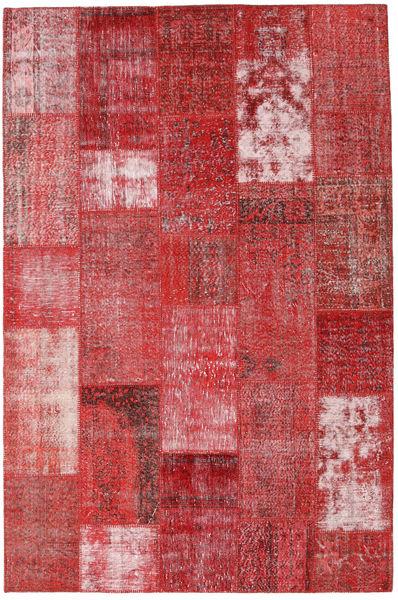 Patchwork Matto 199X302 Moderni Käsinsolmittu Tummanpunainen/Ruoste (Villa, Turkki)