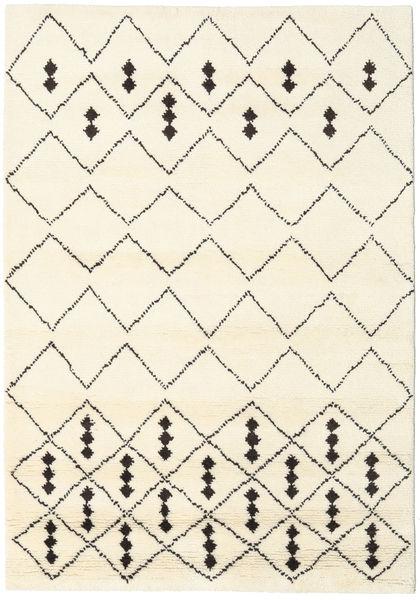 Berber Indo - Off-Valkoinen/Musta Matto 160X230 Moderni Käsinsolmittu Beige/Valkoinen/Creme (Villa, Intia)