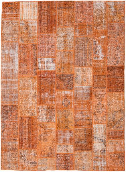 Patchwork Matto 272X372 Moderni Käsinsolmittu Vaaleanruskea/Oranssi Isot (Villa, Turkki)