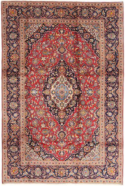 Keshan Matto 200X300 Itämainen Käsinsolmittu Tummanpunainen/Tummanruskea (Villa, Persia/Iran)