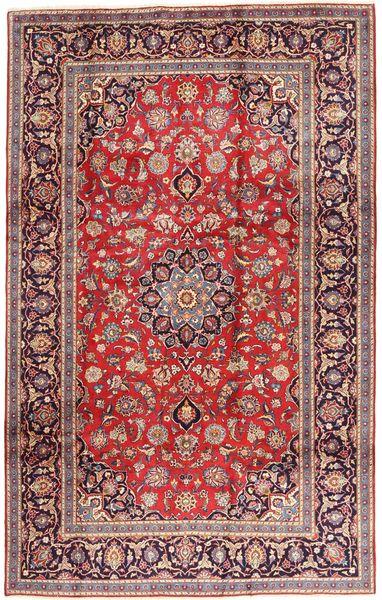 Keshan Matto 195X312 Itämainen Käsinsolmittu Tummanpunainen/Ruoste (Villa, Persia/Iran)