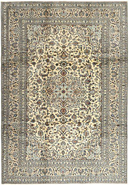 Keshan Matto 240X345 Itämainen Käsinsolmittu Vaaleanharmaa/Oliivinvihreä (Villa, Persia/Iran)