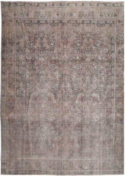 Vintage Matto 288X380 Moderni Käsinsolmittu Tummanharmaa/Vaaleanharmaa Isot (Villa, Persia/Iran)
