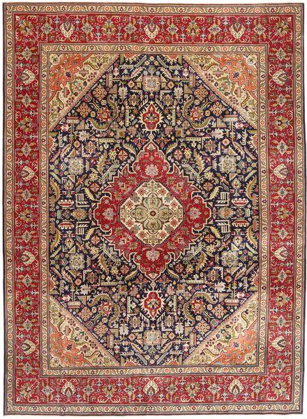 Tabriz Patina Matto 292X400 Itämainen Käsinsolmittu Tummanruskea/Tummanpunainen Isot (Villa, Persia/Iran)
