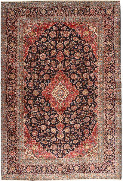 Keshan Matto 242X355 Itämainen Käsinsolmittu Tummanpunainen/Ruskea (Villa, Persia/Iran)
