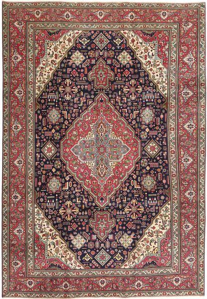 Tabriz Patina Matto 233X340 Itämainen Käsinsolmittu Tummanpunainen/Tummanruskea (Villa, Persia/Iran)
