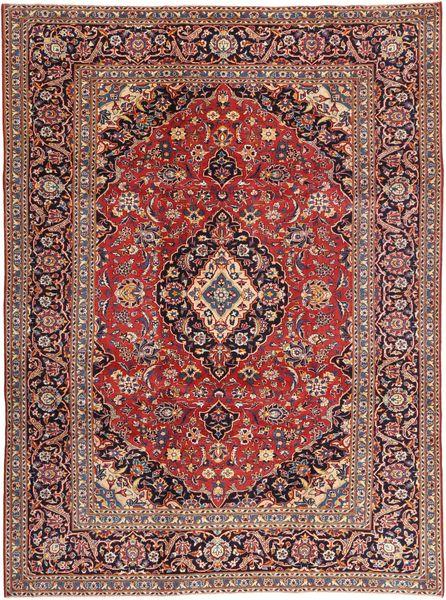 Keshan Patina Matto 242X333 Itämainen Käsinsolmittu Tummanpunainen/Vaaleanruskea (Villa, Persia/Iran)