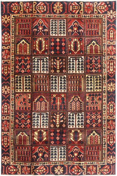 Bakhtiar Patina Matto 195X298 Itämainen Käsinsolmittu Tummanpunainen/Tummanruskea (Villa, Persia/Iran)