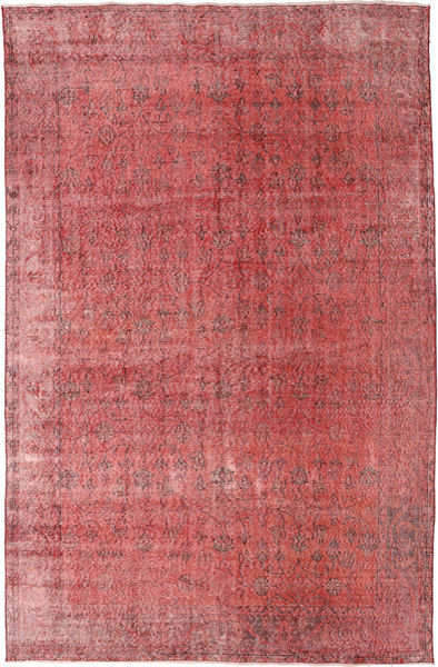 Colored Vintage Matto 186X288 Moderni Käsinsolmittu Ruoste/Tummanpunainen (Villa, Turkki)