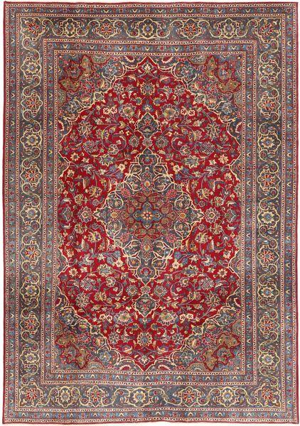Mashad Patina Matto 200X292 Itämainen Käsinsolmittu Tummanpunainen/Vaaleanruskea (Villa, Persia/Iran)