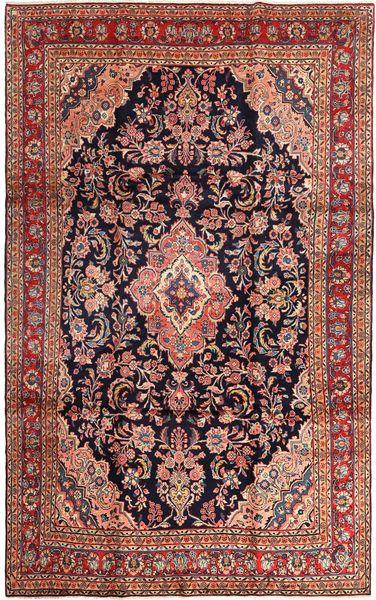 Hamadan Shahrbaf Matto 220X345 Itämainen Käsinsolmittu Tummanpunainen/Vaaleanruskea (Villa, Persia/Iran)