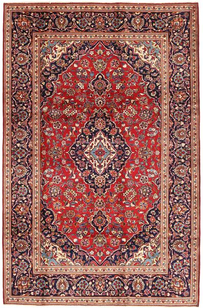 Keshan Matto 197X300 Itämainen Käsinsolmittu Tummanpunainen/Tummanruskea (Villa, Persia/Iran)