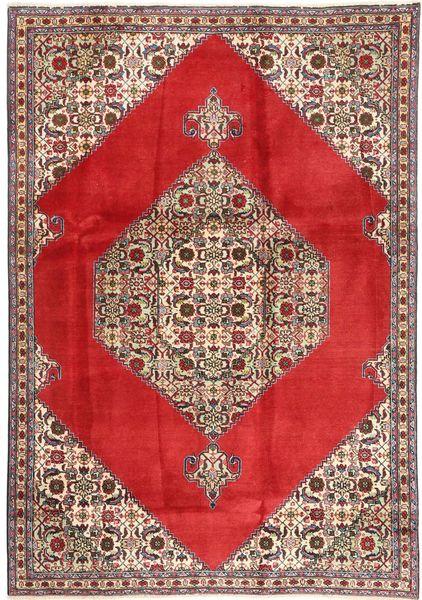 Tabriz Matto 185X262 Itämainen Käsinsolmittu Punainen/Tummanruskea (Villa, Persia/Iran)