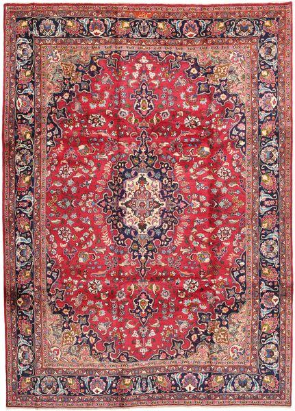 Mashad Matto 247X340 Itämainen Käsinsolmittu Tummanpunainen/Ruskea (Villa, Persia/Iran)