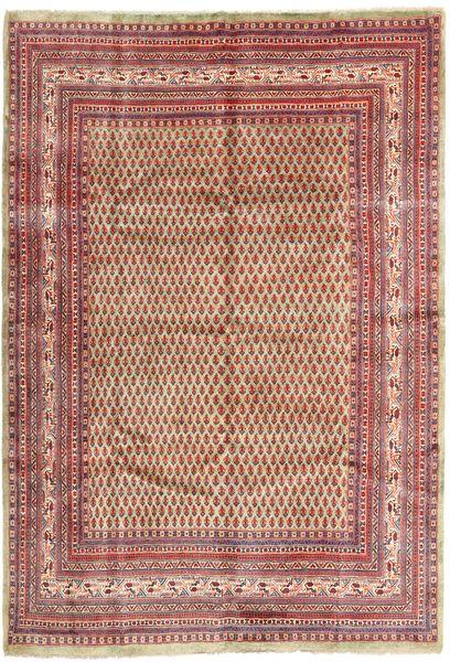 Sarough Mir Matto 215X315 Itämainen Käsinsolmittu Tummanpunainen/Beige (Villa, Persia/Iran)